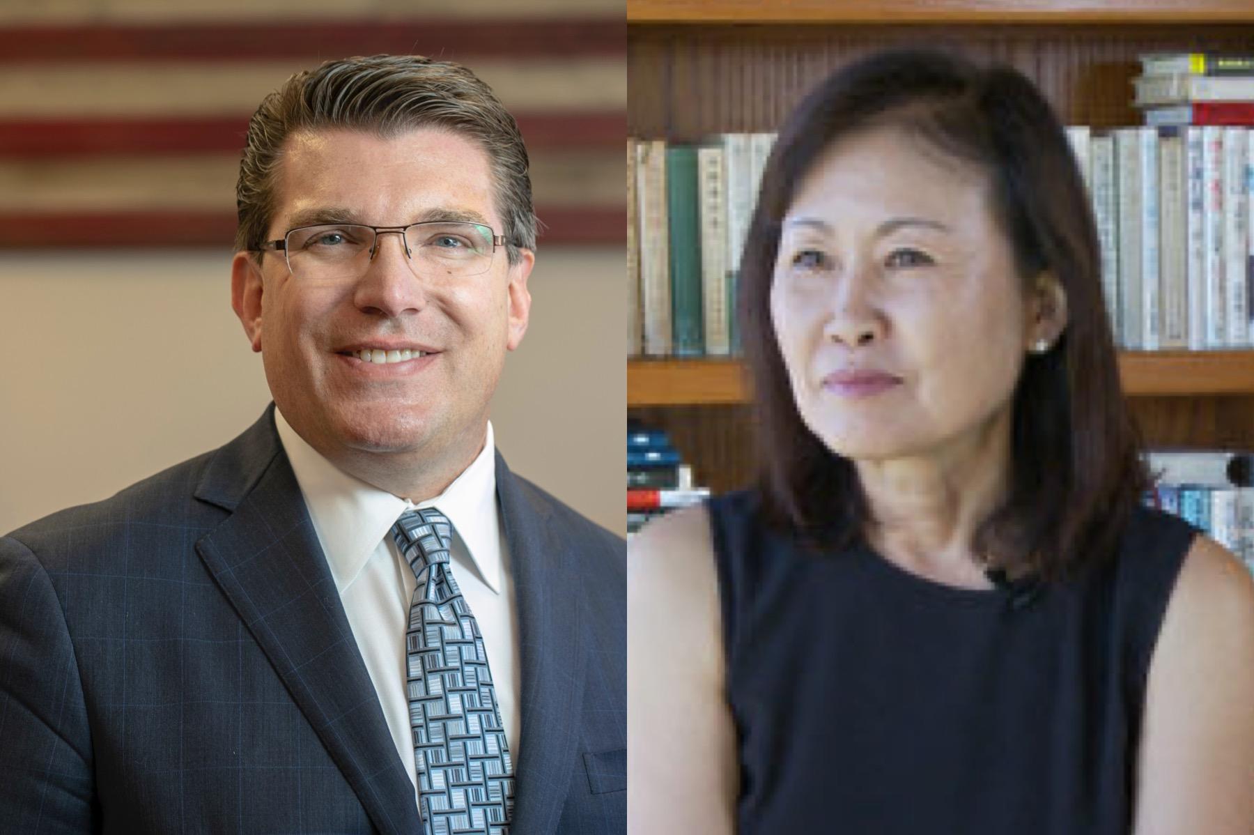 加州共和黨人在2020年大選中奪回兩個席位。左為第8選區共和黨候選人傑伊‧奧伯諾特(Jay Obernolte),右為第48選區共和黨候選人共和黨人樸銀珠(Michelle Steel)。(大紀元合成圖)
