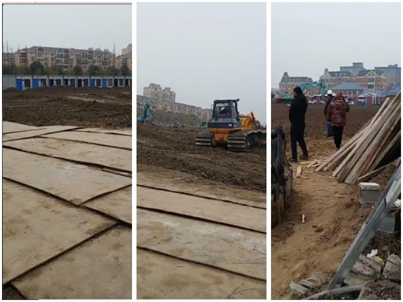 傳上海浦東正在建方艙醫院,還要求在6天時間內完成。(影片截圖)