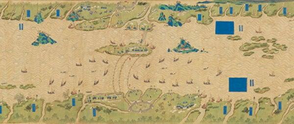 〈長江圖〉局部。(台灣故宮提供)