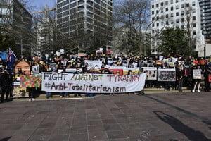 【9.29反極權】在紐西蘭港人集會 連線對抗極權