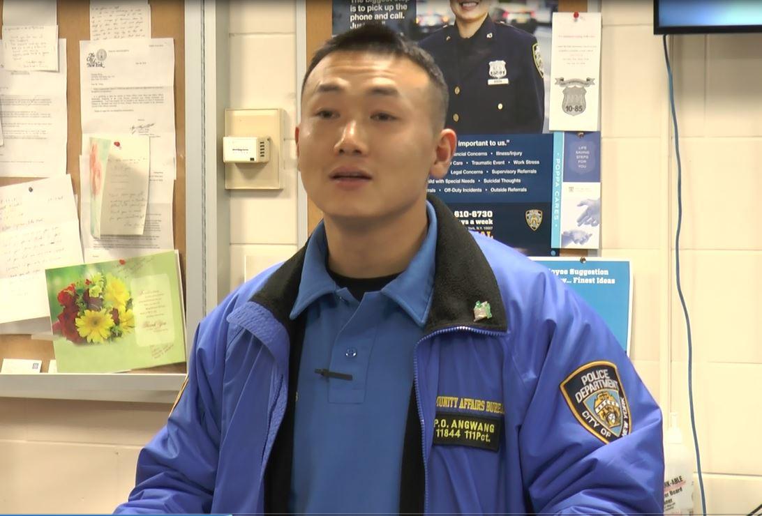 紐約市警111分局警察昂旺(Baidamajie Angwang)。(大紀元資料圖)