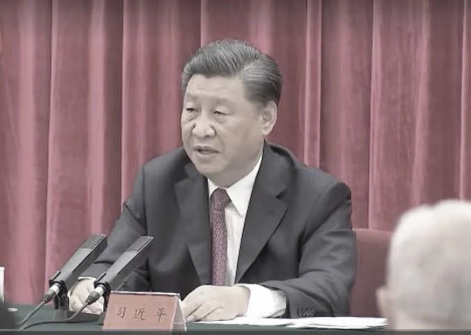 9月3日,中共總書記習近平就中共面臨國際上的各種譴責聲音和制裁,親自強調五個「中國人民都絕不答應」(影片截圖)