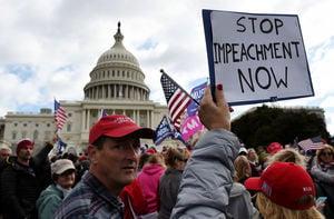 美數百人國會大廈前集會 要求停止彈劾調查
