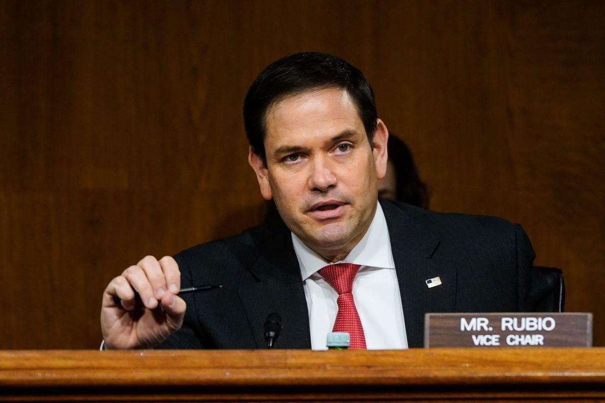共和黨聯邦參議員魯比奧(Marco Rubio)。(DREW ANGERER/POOL/AFP via Getty Images)