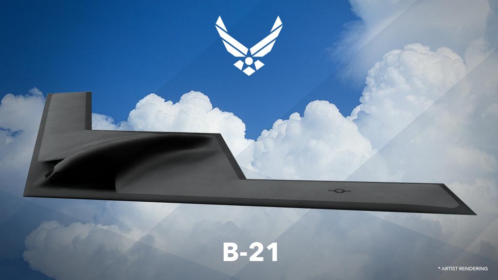 B-21隱形轟炸機概念圖。(公有領域)
