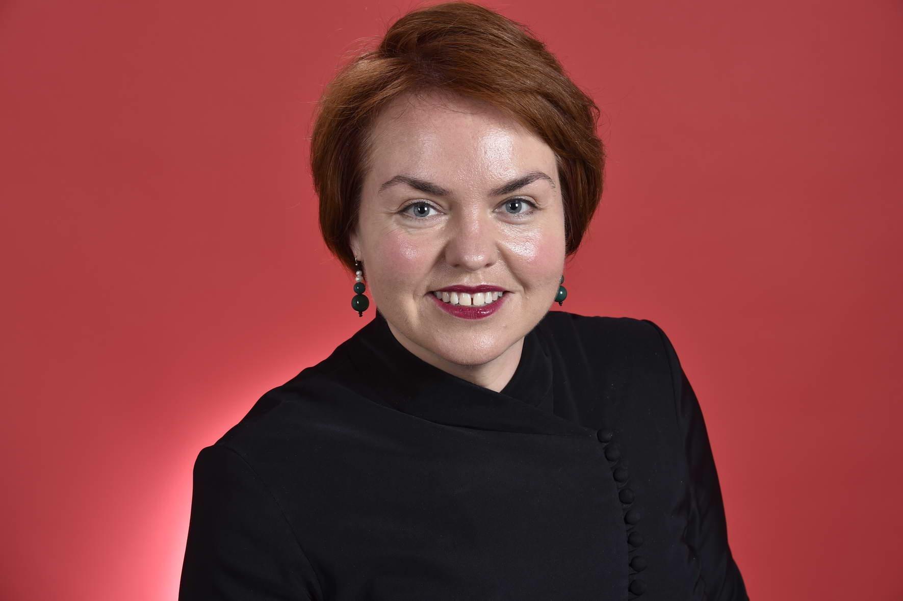 澳洲工黨參議員基欽(Kimberley Kitching)在聯合國圓桌會議上發言表示,中共霸權主義破壞世界秩序,呼籲建立印太地區新聯盟。(本人提供)