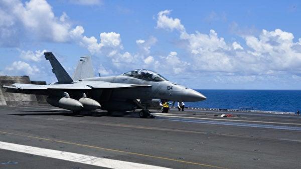 2020年8月14日,列根號(CVN 76)航母艦隊再次進入南中國海,進行艦載機訓練。(美國印太司令部)