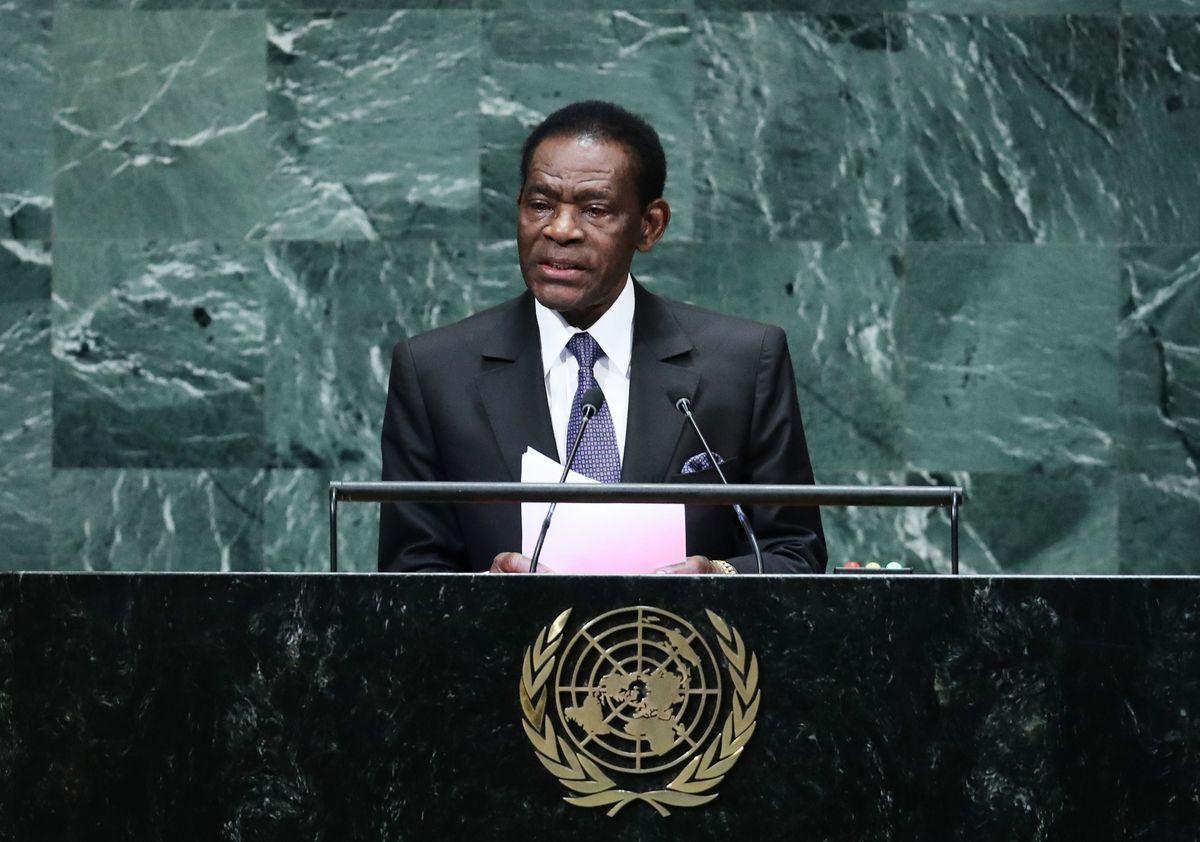 非洲國家赤道幾內亞總統恩格瑪(Teodoro Obiang Nguema)表示,該國一座軍營周日發生了爆炸,造成至少20人死亡,六百多人受傷。圖為資料照。(TIMOTHY A. CLARY/AFP via Getty Images)
