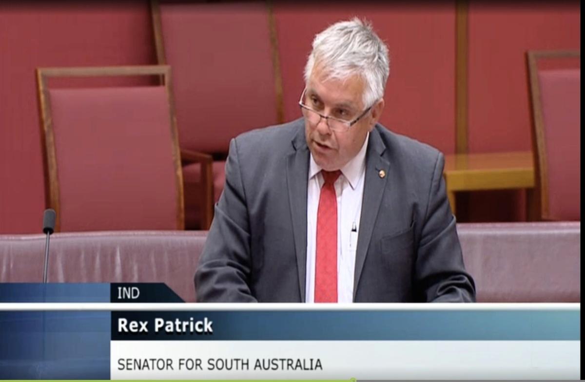 2021年5月11日晚,澳洲參議員帕特里克(Rex Patrick)在議會會議上發言表示,針對中共網絡攻擊行為,澳洲應從被動防禦,轉為主動反擊,定向制裁。(影片截圖)