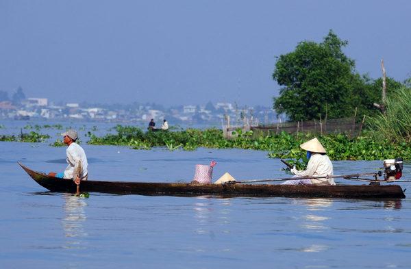 緬甸是中共「一帶一路」的關鍵節點國家,中緬於2018年簽訂了中緬經濟走廊(CMEC)協定。圖為位於東南亞地區的湄公河(Mekong River,在中國境內稱「瀾滄江」)。(HOANG DINH NAM/AFP/Getty Images)