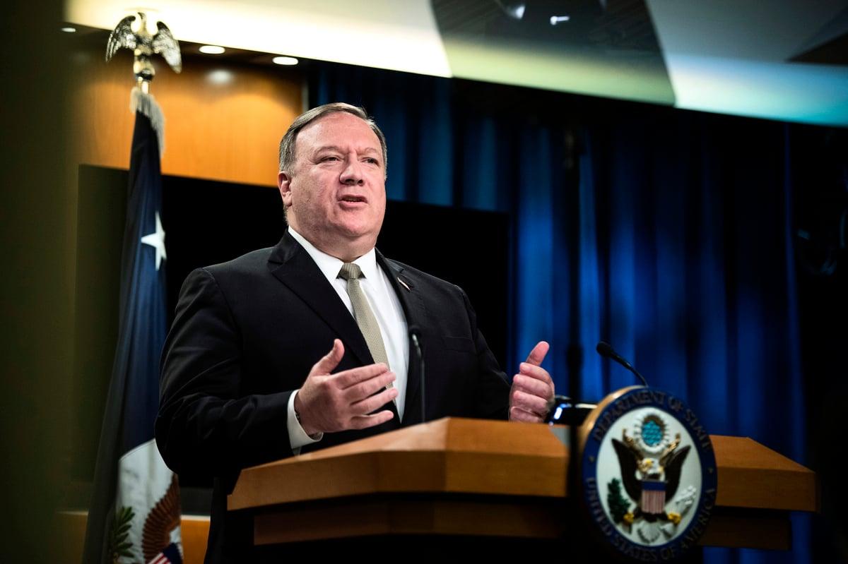 美國國務卿蓬佩奧7月22日表示,印度是美國值得信賴的盟友。他敦促印度關注國內供應鏈,在電信和醫療用品上減少對中企的依賴,加速與中國脫鉤。(Manny CENETA/POOL/AFP)