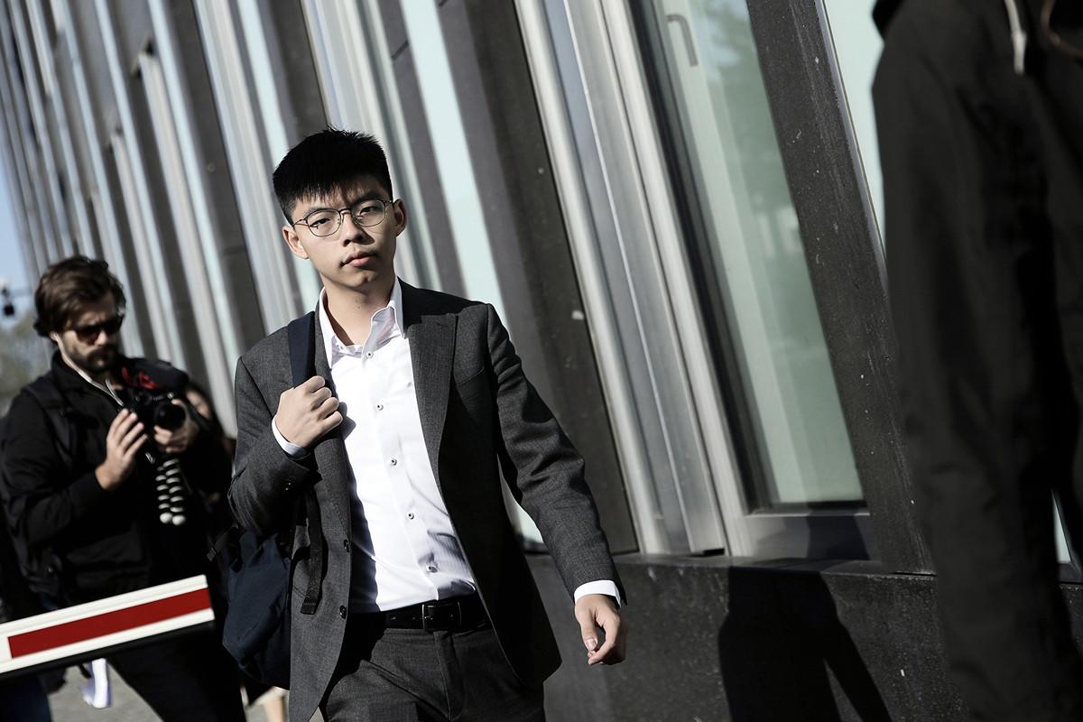 香港眾志秘書長黃之鋒近日在柏林,道出他追求民主自由的心聲。(Carsten Koall/Getty Images)