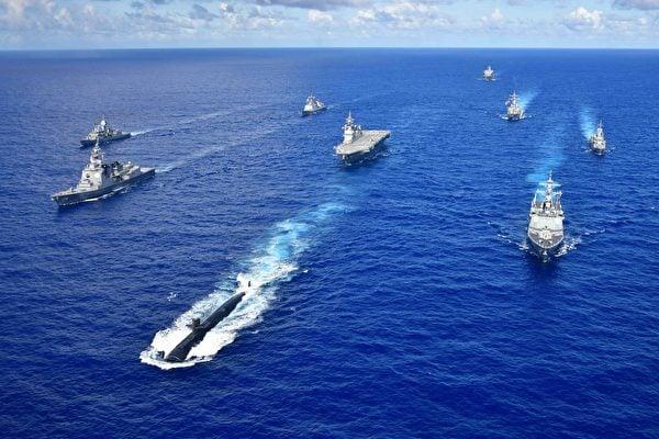 2020年9月12日,美軍與澳洲、南韓海軍和日本海上自衛隊,在關島附近海域參加2020太平洋先鋒(Pacific Vanguard)演習。(日本海上自衛隊)