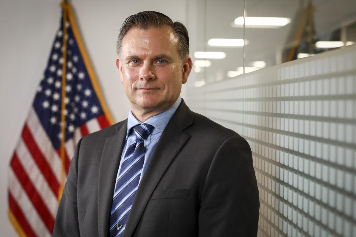 美國空軍退役准將、中國問題專家羅伯特・斯伯丁(Robert Spalding)。(Samira Bouaou/The Epoch Times)