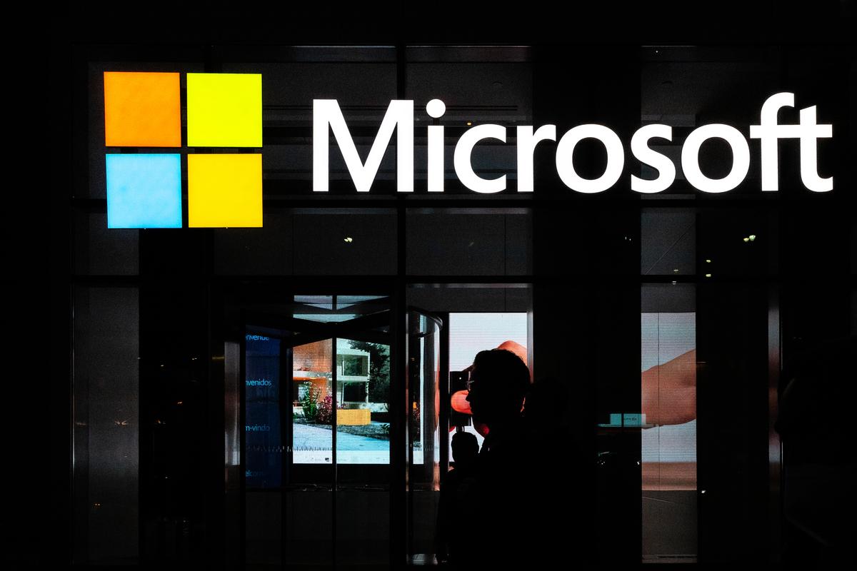 微軟公司的聲明說:「雖然其它科技公司可能威脅要離開澳洲,但微軟永遠不會做出這樣的威脅。」(Jeenah Moon/Getty Images)