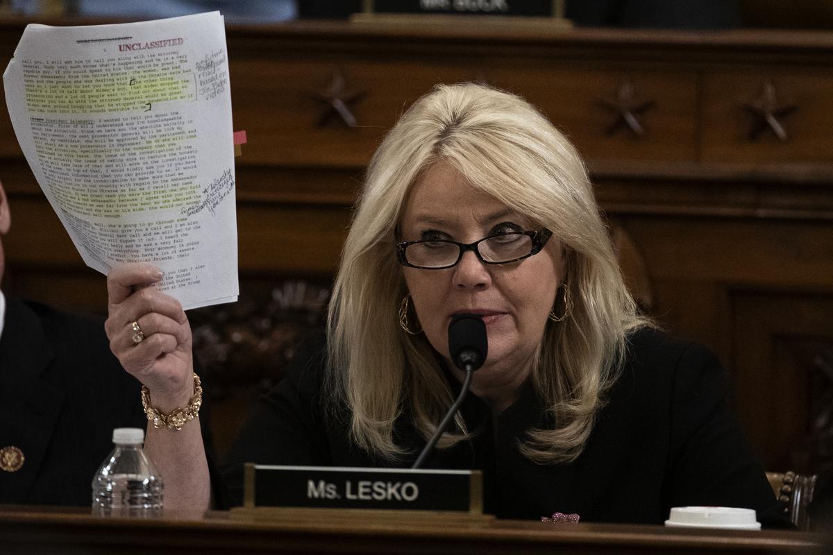 圖為亞利桑那州聯邦眾議員黛比·萊斯科(Debbie Lesko)資料照。(Alex Edelman -Pool/Getty Images)