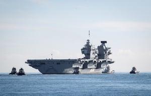 英國將派航空母艦到南海 F-35戰機隨行