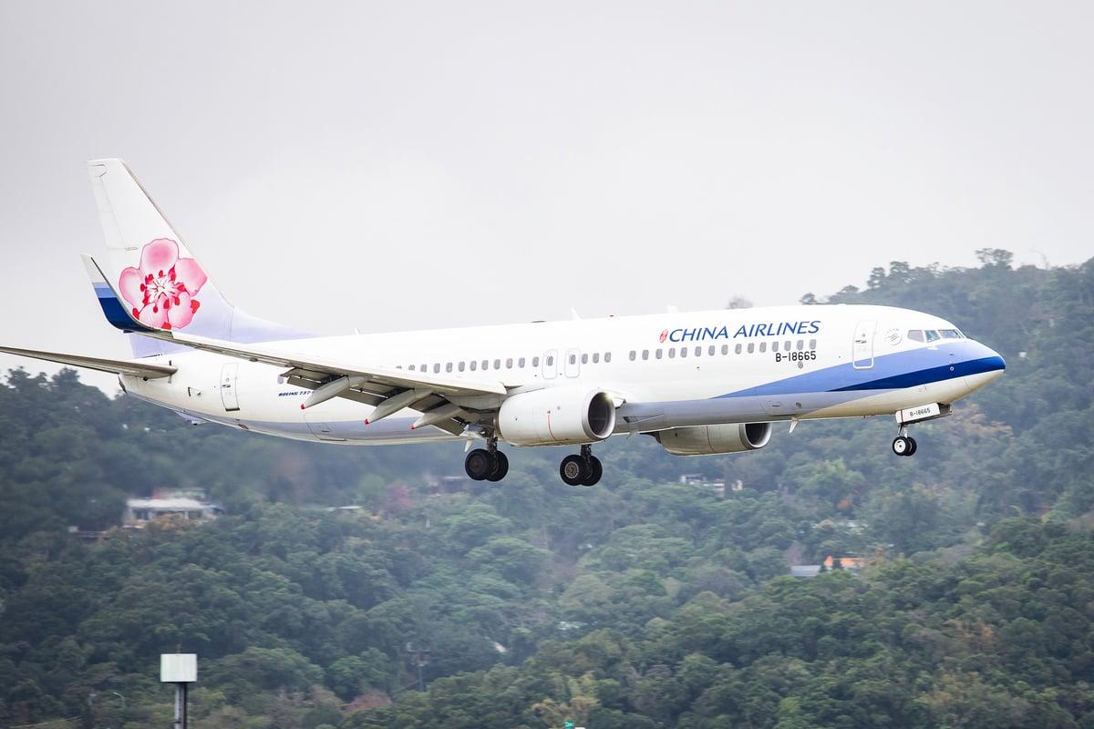 為避免被當成來自大陸的「中國航空」,華航(中華航空)或更名。圖為華航航班。 (中央社)