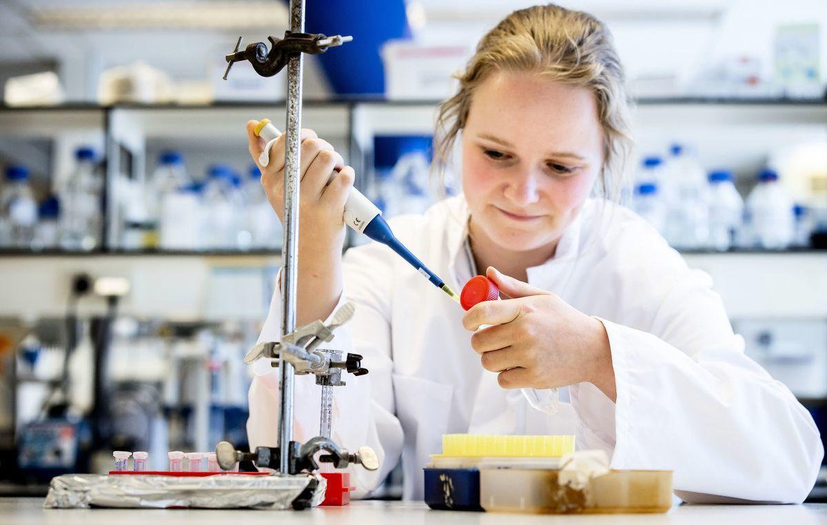 2020年5月,荷蘭阿姆斯特丹一家實驗室,研究者在研發中共病毒疫苗。(Koen Van WEEL/ANP/AFP via Getty Images)