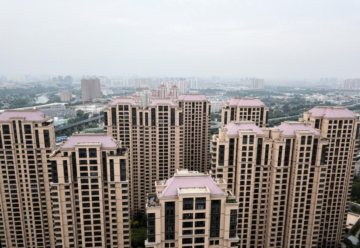 截至12月10日,今年中國房地產相關企業有89,921家因註銷、吊銷等停業,這一數字相比去年全年增加39.27%。圖為示意照。(AFP)