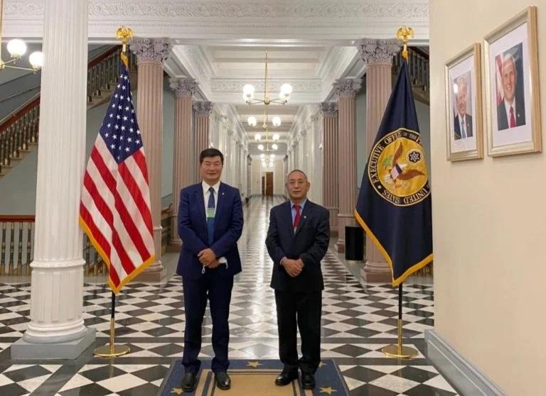 藏人行政中央領導人60年來首次訪問白宮。(藏人行政中央網站)
