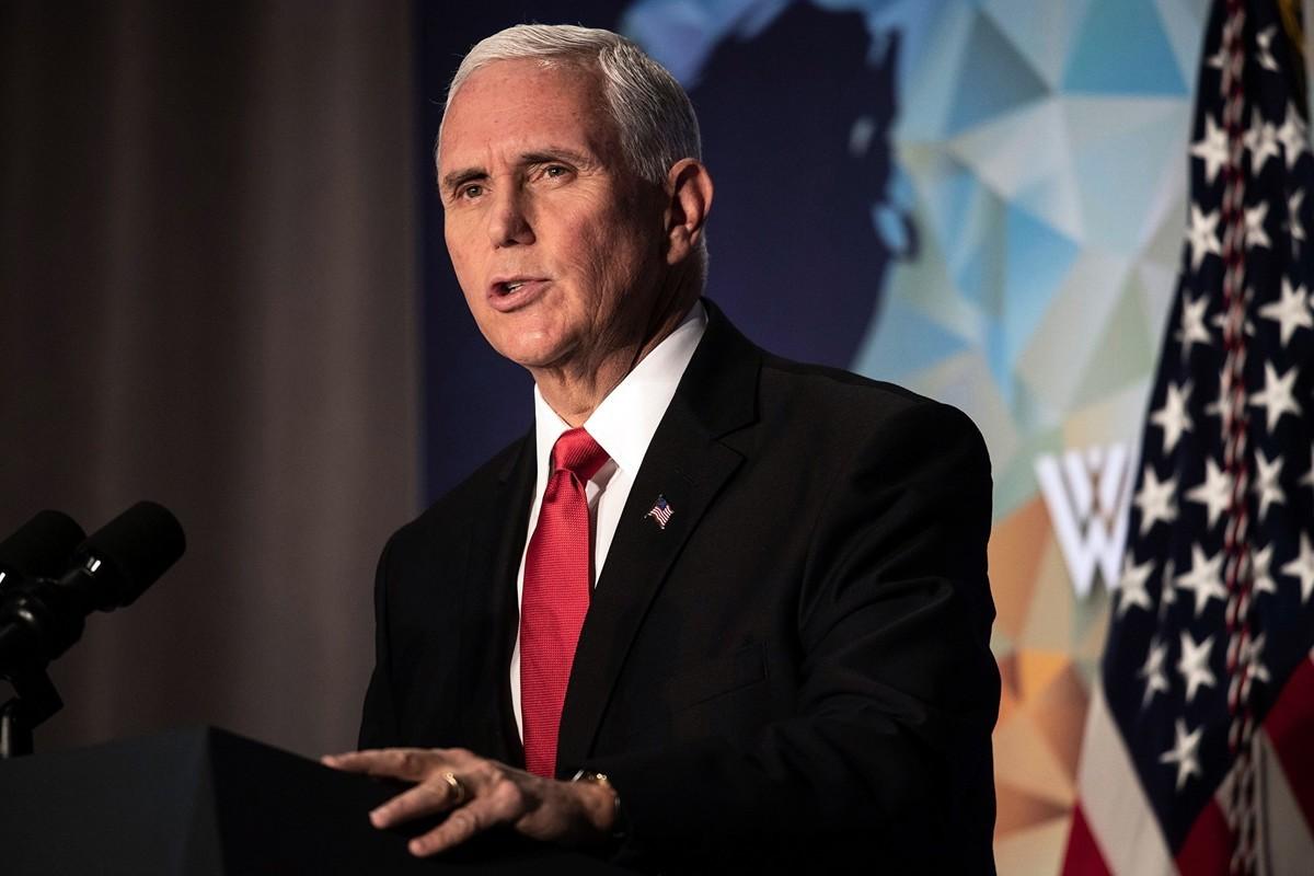 美國副總統彭斯周三(1月8日)表示,情報顯示,伊朗已要求其盟軍民兵不要攻擊美國目標。資料圖。(NICHOLAS KAMM/AFP via Getty Images)