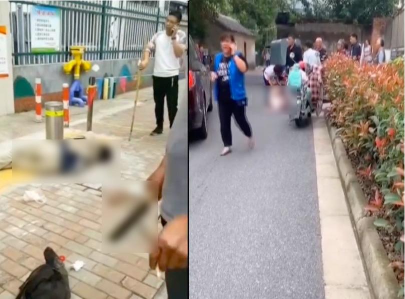 【影片】蘇州渭塘幼兒園外現砍人案 1死4傷