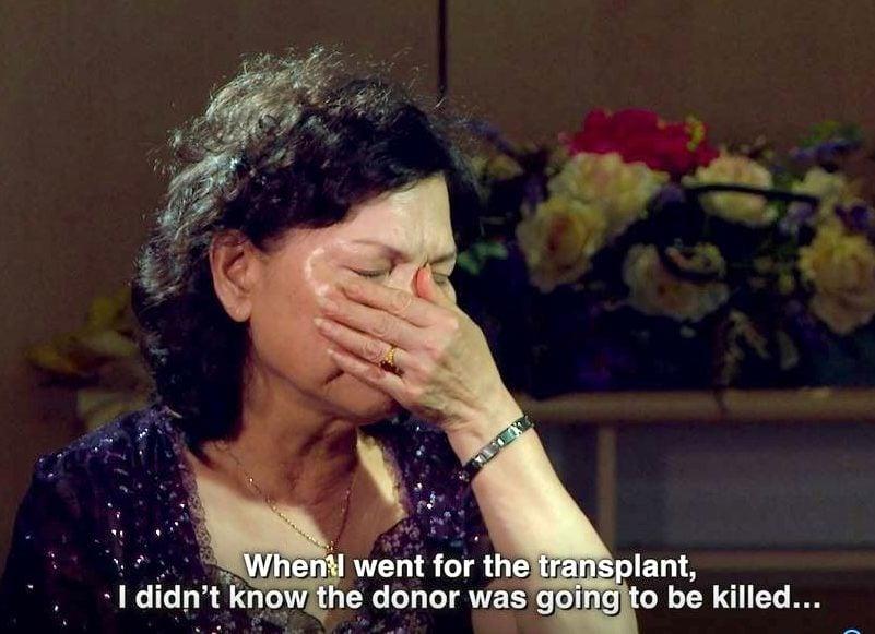 台灣居民塗秀松(Xiusong Tu,音譯)在紀錄片《活摘》中說,她去中國接受器官移植手術時,她不知道器官捐獻者會被殺害。(影片截圖)