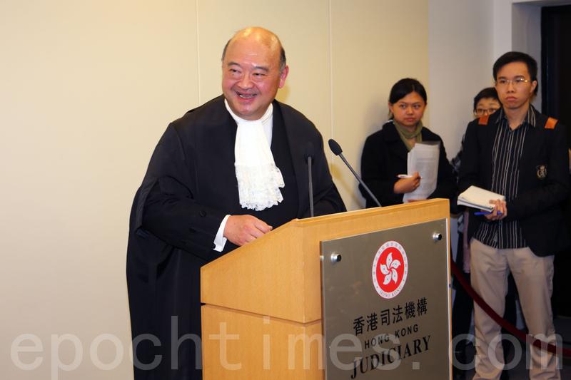 圖為香港終審法院首席法官馬道立。(潘在殊/大紀元)
