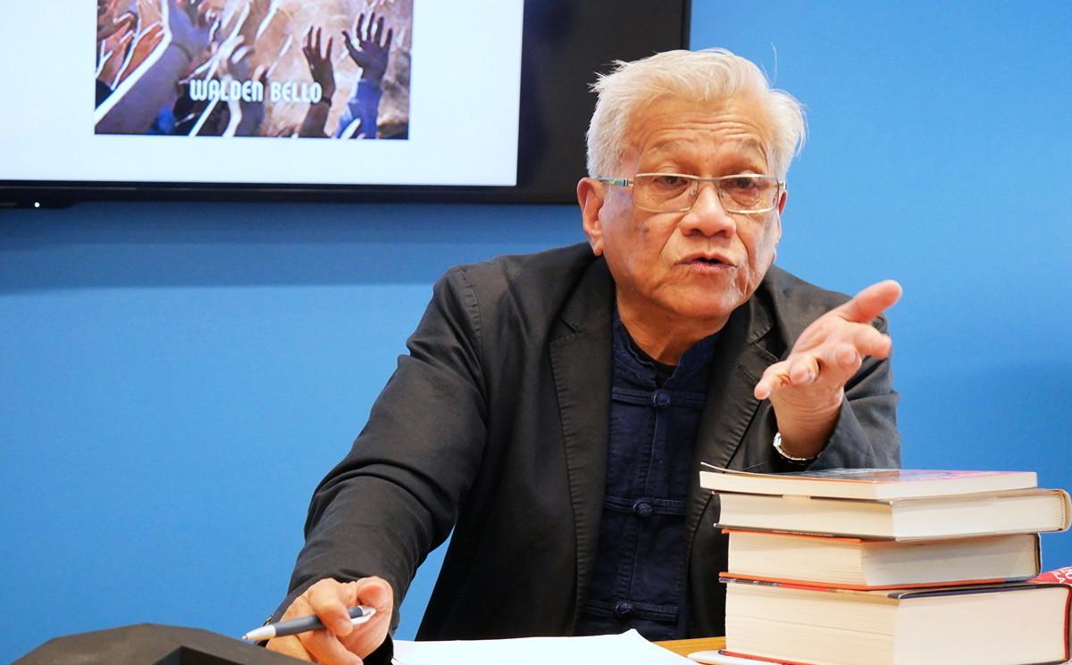 美國紐約州立大學客座教授Walden Bello(李辰/大紀元)