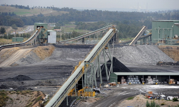 澳洲臨近Camberwell的煤礦開採區。示意圖。(TORSTEN BLACKWOOD/AFP/Getty Images)