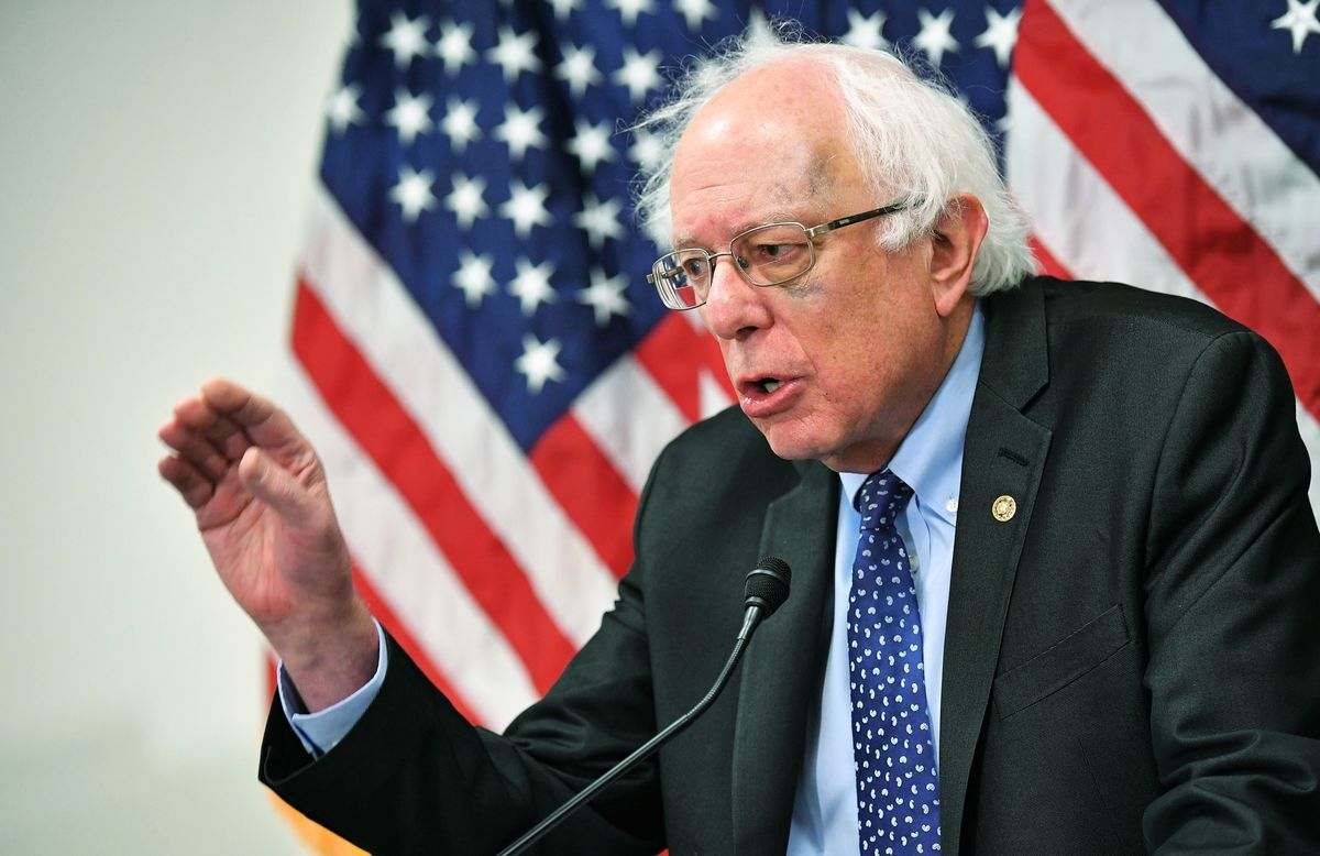 民主黨總統候選人桑德斯。(MANDEL NGAN/Getty Images)