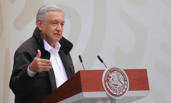 墨西哥總統奧夫拉多爾(Andres Manuel Lopez Obrador)。(Hector Vivas/Getty Images)
