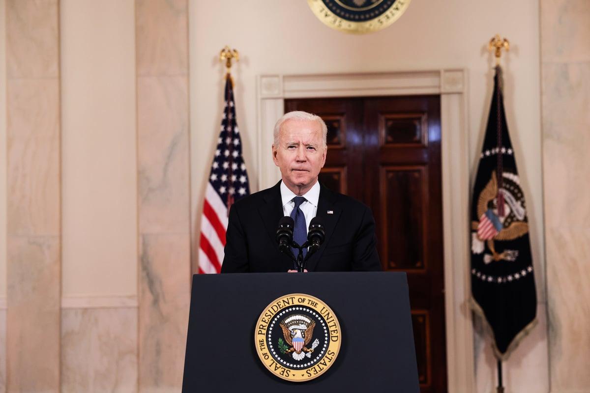 美國總統祖拜登(Joe Biden,圖)2021年5月26日下令情報部門在90天內對中共病毒(COVID-19)大流行病起源的兩種合理情況進行更仔細的審查。(Anna Moneymaker/Getty Images)