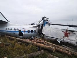俄羅斯飛機墜毀 16人死6人重傷