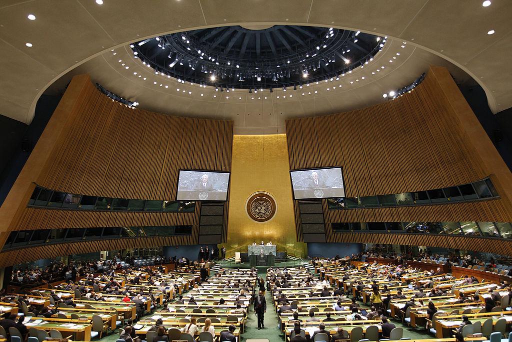 美國周三下午將在聯合國核監督委員會召開緊急會議,其在召開會議聲明中表示,「國際社會必須讓伊朗政權承擔責任」。(Michael Nagle/Getty Images)