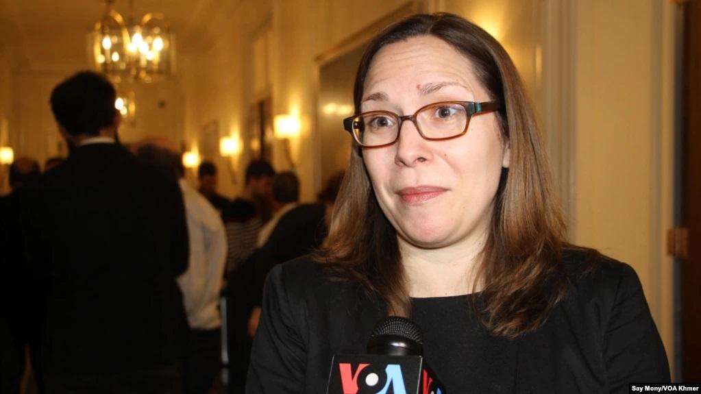 白宮國安會中國事務資深主任羅拉・羅森伯格(Laura Rosenberger),資料照。(美國之音提供)