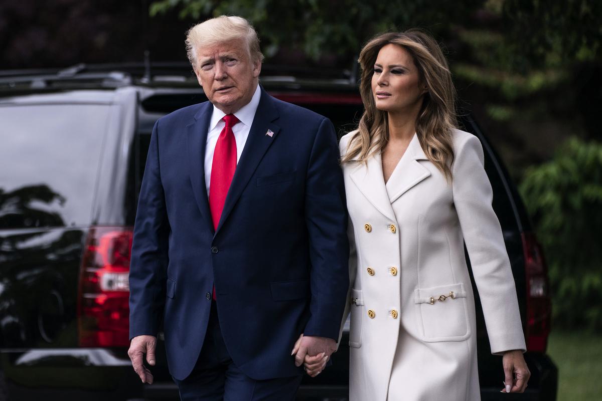 中共官媒轉載CNN假新聞,稱第一夫人梅拉尼婭‧特朗普(Melania Trump)勸總統「接受失敗」,遭大陸網民譴責。(Sarah Silbiger/Getty Images)