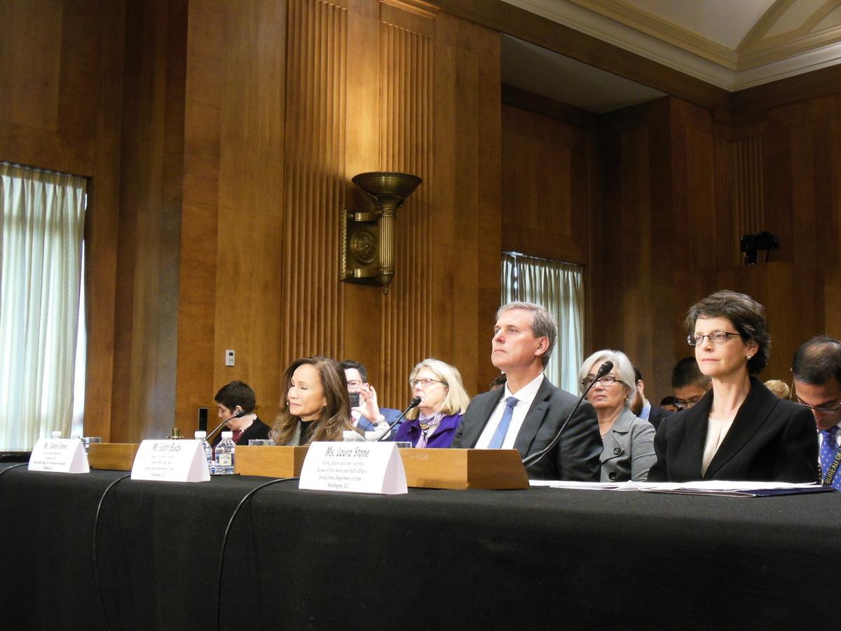 12月4日,美國聯邦參議院舉行聽證會,聚焦中國日益惡化的人權狀況。(李辰/大紀元)