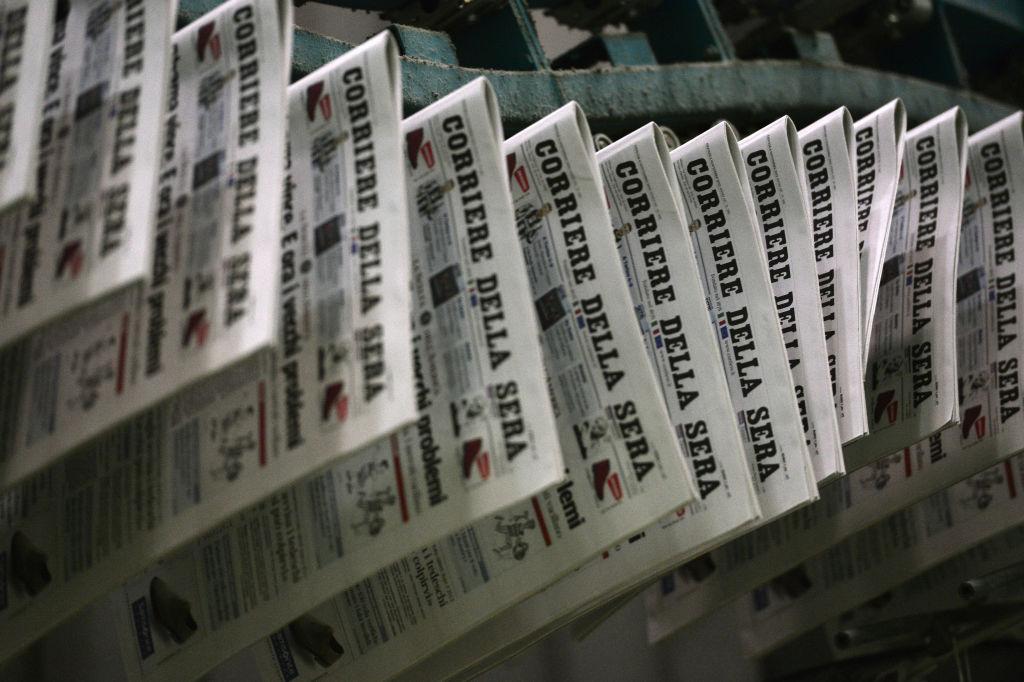 意大利最有影響力的《晚郵報》(Corriere della Sera)2020年4月26日發表社論,呼籲意大利應該與歐洲其它國家一起,向中共政府問責。(GIUSEPPE CACACE,GIUSEPPE CACACE/AFP via Getty Images)