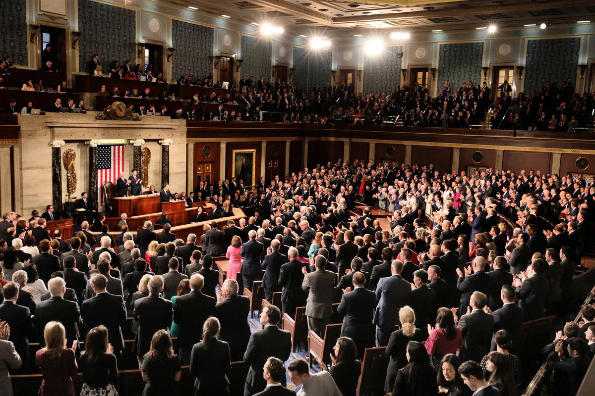 美國聯邦眾議院。(LUDOVIC MARIN/AFP)