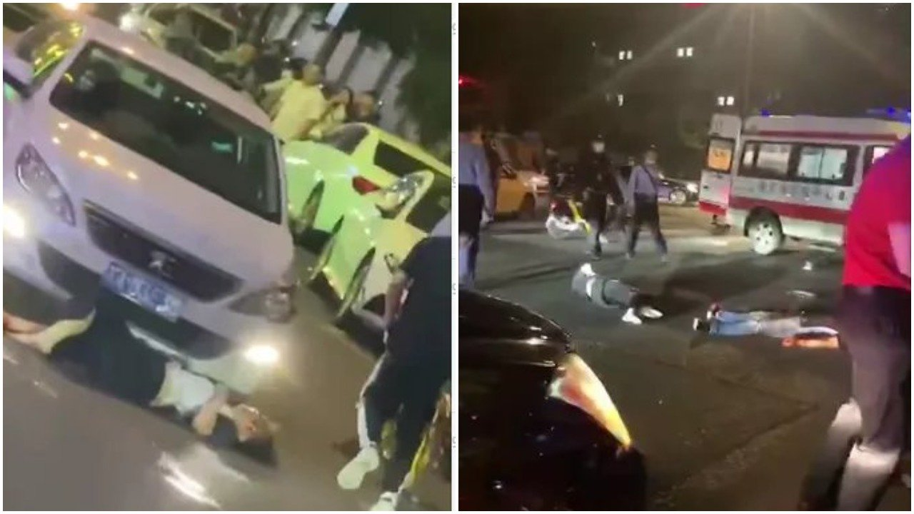 2021年5月29日夜,位於南京中心區域的新街口爆出又一起報復社會事件。(影片截圖)