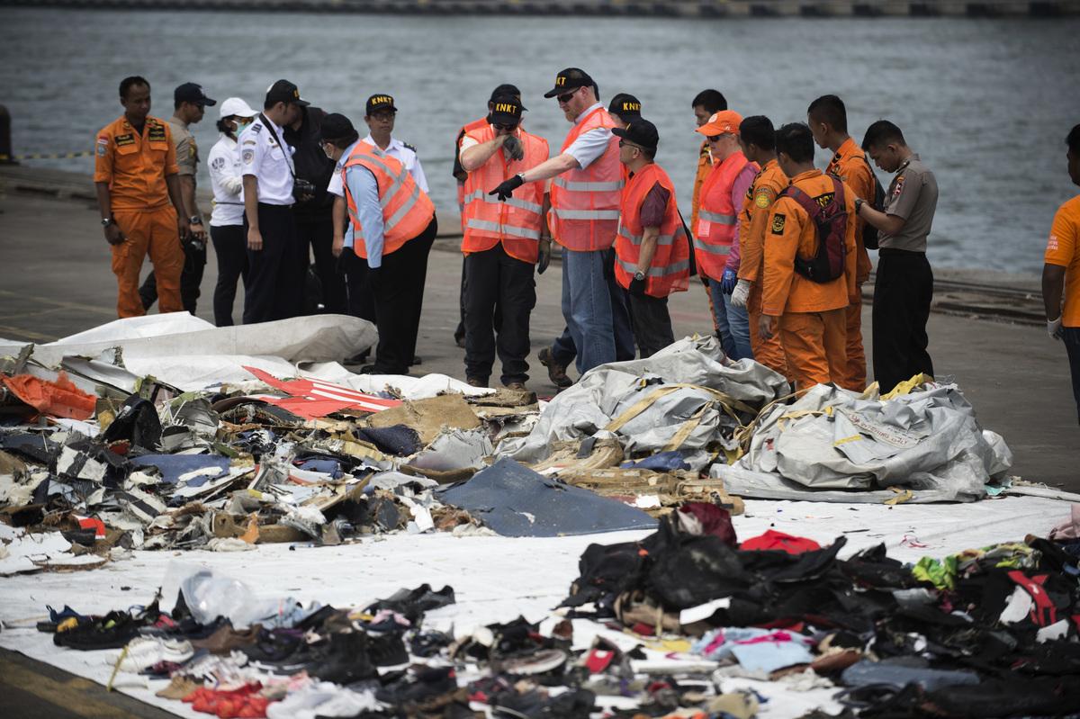2018年10月29日墜毀的印尼獅航(Lion Air)波音737 MAX 8型客機被發現在過去的四次飛行中曾出現過飛行速度讀數錯誤。(BAY ISMOYO/AFP/Getty Images)
