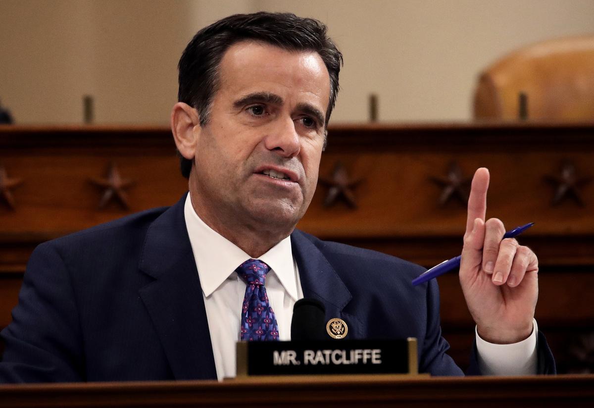 美國國家情報總監約翰·拉特克利夫(John Ratcliffe)於2020年9月向國會議員通報表示,針對國會的外國勢力威脅比以前已知更為廣泛,北京是主要侵略者。(Drew Angerer/Getty Images)