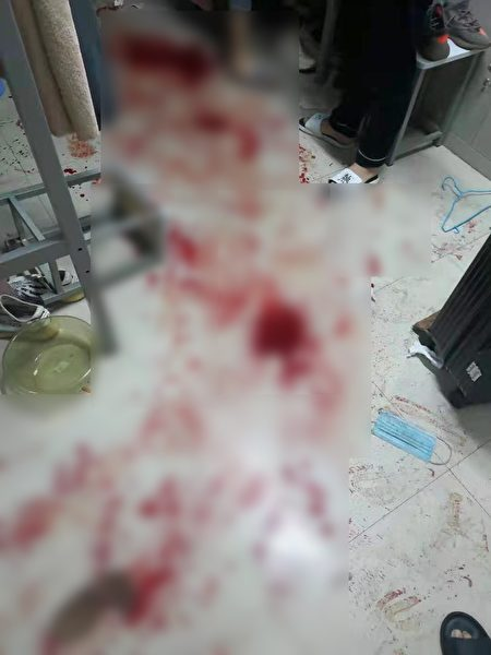 3月23日晚間,網傳河南鄭州經濟學院發生砍人事件。但24日有消息指,該學校及當地醫院均稱是男學生自傷所致。知情人士向大紀元記者透露內情。(受訪者提供)