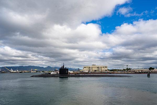快速攻擊潛艇「哥倫比亞號」(SSN 771)離開珍珠港基地,參加「敏捷匕首2021演習」。 (美國海軍)