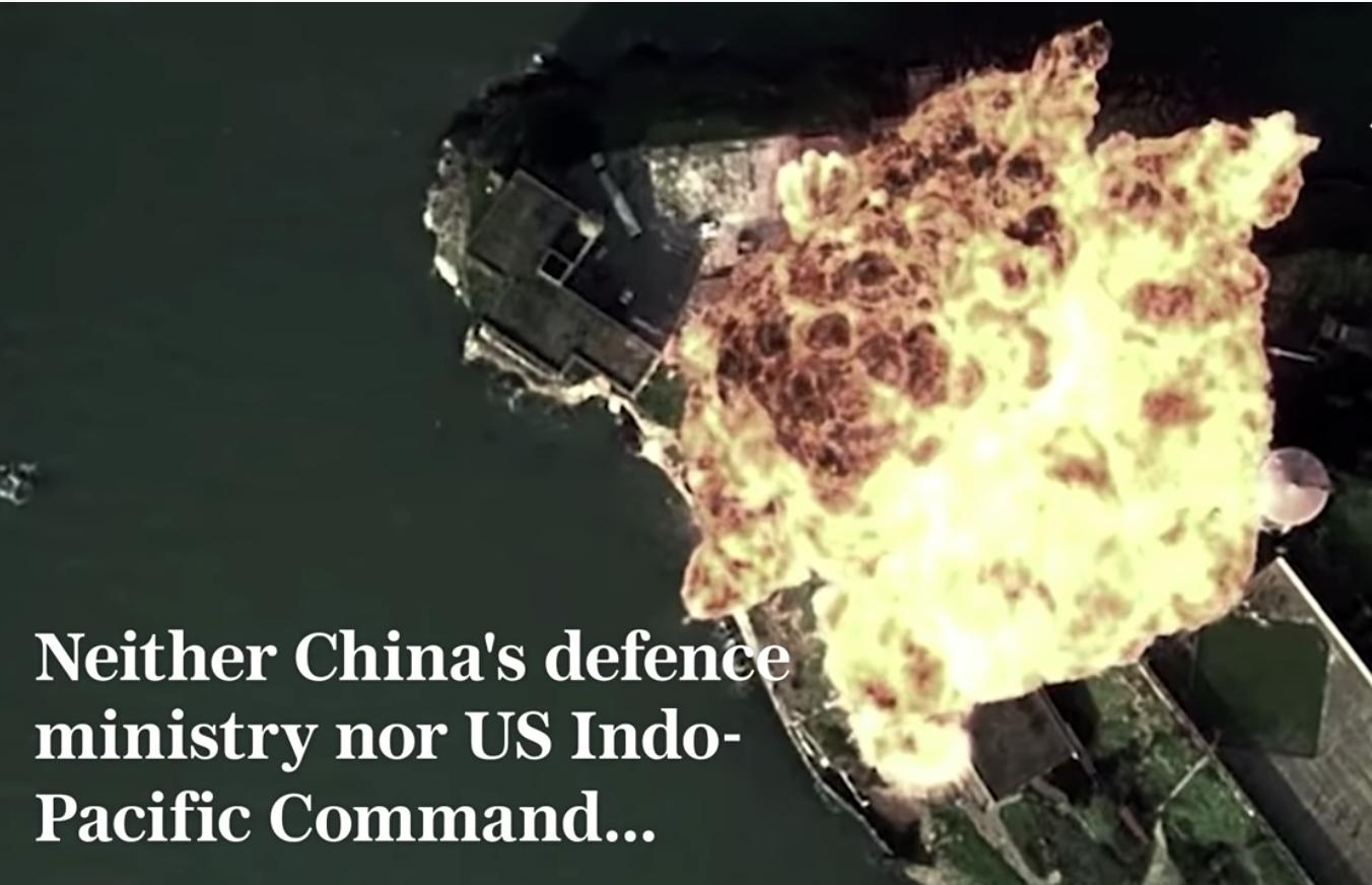 中共空軍製作的宣傳H-6轟炸機的「強大影片」卻被發現是拼接荷里活大片的「贗品」。(影片截圖)