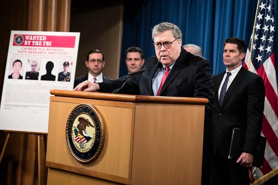 史上最大數據洩露案 美起訴4中共軍方黑客
