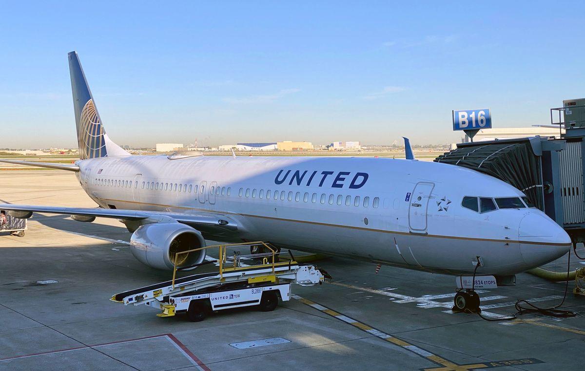 聯合航空(UAL)的客機。(DANIEL SLIM/AFP via Getty Images)
