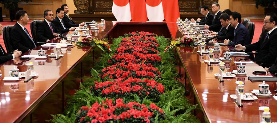 安倍和習近平會面 促保持香港自由開放